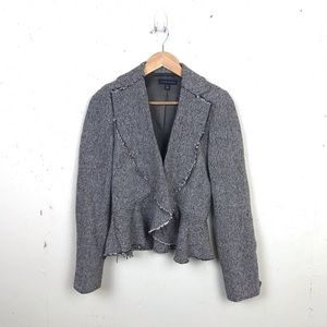 Banana Republic Draped Tweed Jacket Blazer 6